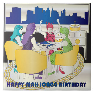 Teja del cumpleaños del Mah Jongg Nueva York