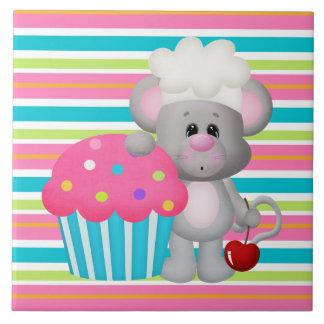 Teja del dibujo animado de la panadería del ratón