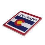 Teja del diseño de la bandera de Colorado