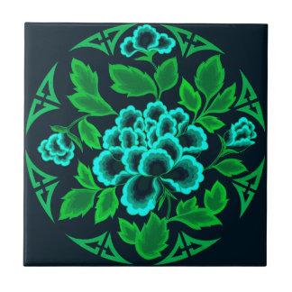 Teja del diseño floral del vintage