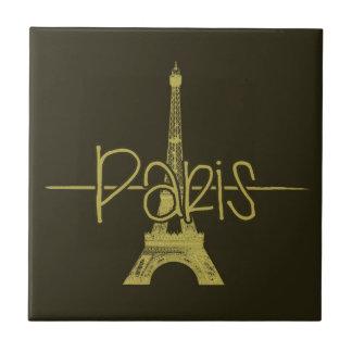 Teja del diseño gráfico de la torre Eiffel de Parí