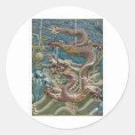 teja del dragón etiquetas redondas
