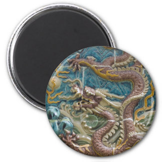teja del dragón imán redondo 5 cm