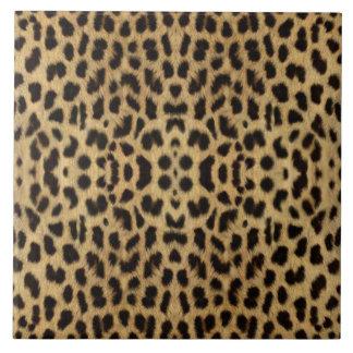 Teja del estampado leopardo