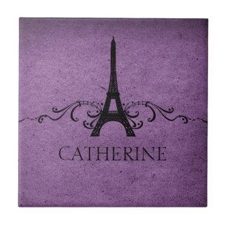Teja del Flourish del francés del vintage, púrpura