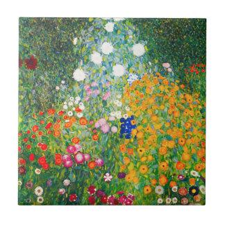 Teja del jardín de flores de Gustavo Klimt