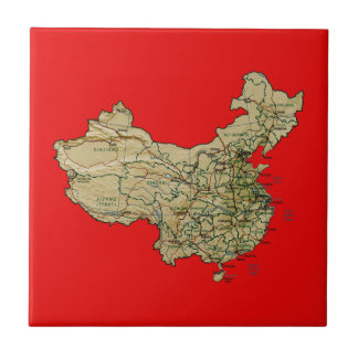 Teja del mapa de China