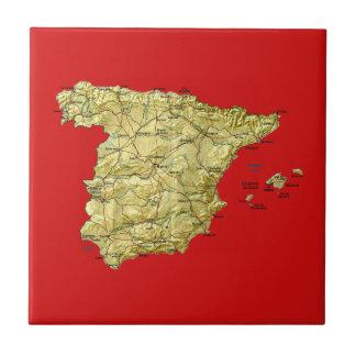 Teja del mapa de España