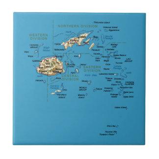 Teja del mapa de Fiji