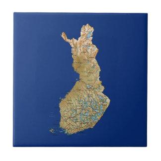 Teja del mapa de Finlandia