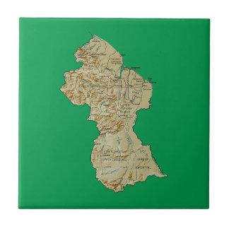 Teja del mapa de Guyana