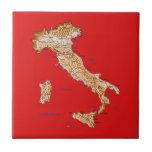 Teja del mapa de Italia