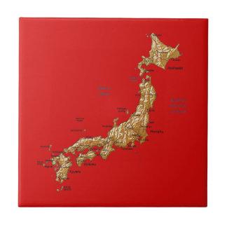 Teja del mapa de Japón