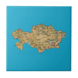 Teja del mapa de Kazajistán
