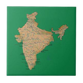 Teja del mapa de la India