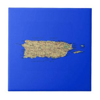 Teja del mapa de Puerto Rico