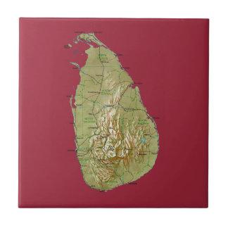 Teja del mapa de Sri Lanka