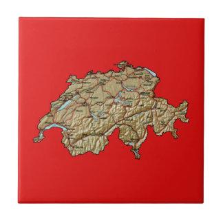 Teja del mapa de Suiza