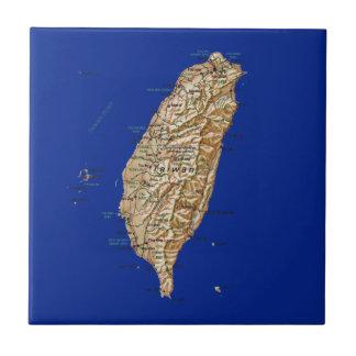 Teja del mapa de Taiwán
