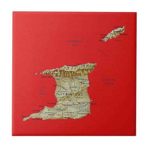 Teja del mapa de Trinidad and Tobago
