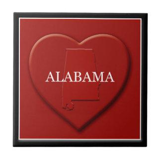 Teja del mapa del corazón de Alabama