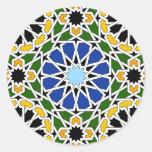 Teja del Moorish Etiquetas Redondas