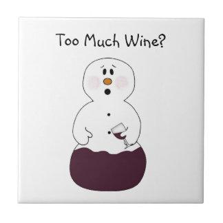 Teja del muñeco de nieve del vino