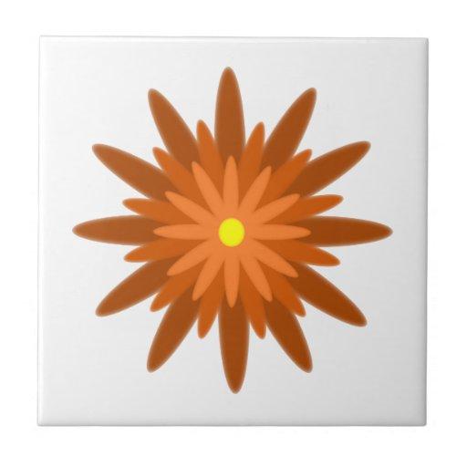 Teja del naranja de la floración