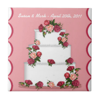 Teja del pastel de bodas