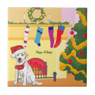 Teja del perro del navidad