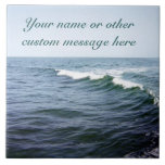 Teja del personalizado del agua del océano