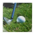 Teja del putt del golf