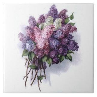 Teja del ramo de la lila del vintage