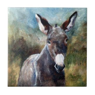 Teja del retrato del burro