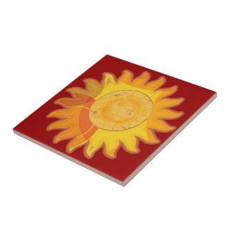 Teja del rojo de la sol