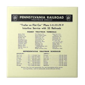 Teja del servicio de TrucTrain del ferrocarril de