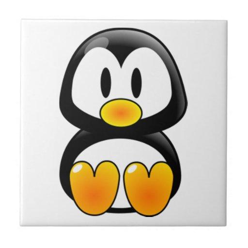 teja del tux del pingüino del bebé