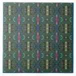 Teja del verde azul del estilo del Moorish
