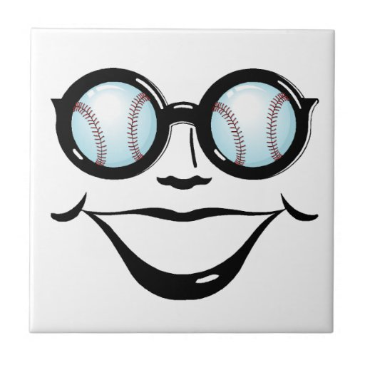 Teja divertida de la cara del béisbol de los depor