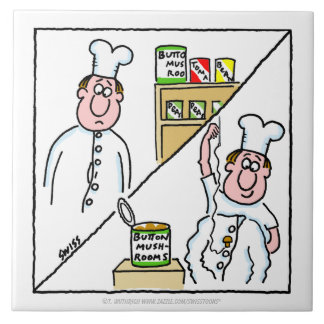 Teja divertida de la cocina del dibujo animado del