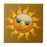 Teja divertida de Sun del verano