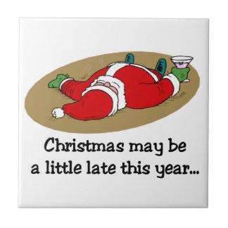 Teja divertida Trivet del navidad