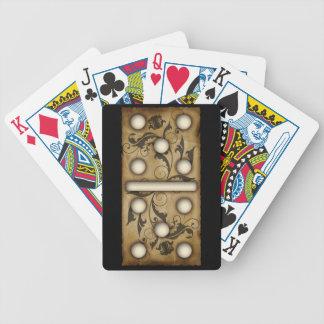 Teja doble-cinco del dominó de los dominós del vin barajas de cartas