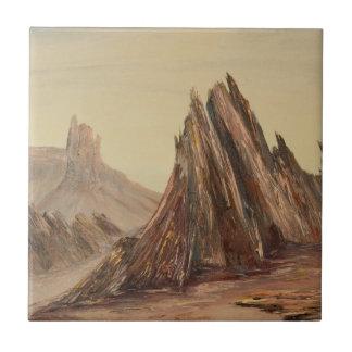 Teja dramática del paisaje del desierto