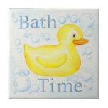 Teja Ducky de goma del tiempo del baño