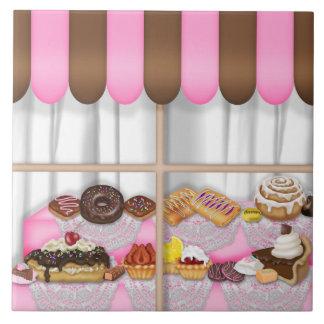 Teja dulce del dibujo animado de la panadería de l