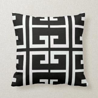 Teja española blanco y negro cojín decorativo