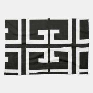 Teja española blanco y negro toalla