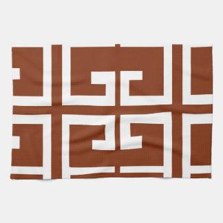 Teja española marrón y blanca toallas