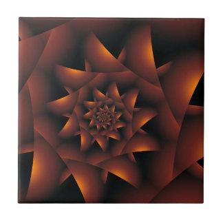 Teja espiral oscura anaranjada quemada del fractal
